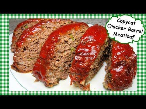 Copycat CRACKER BARREL Meatloaf - Best Meatloaf Recipe!
