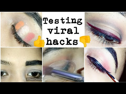 😱😱Testing viral beauty hacks😱😱|| awwww😰😰 yeh Kiya hogya || testing hacks fail👎 or pass👍||