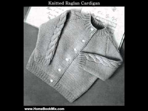 Home Book Summary Knitted Raglan Cardigan Sweater For Babytoddler