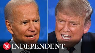 Watch live: Donald Trump and Joe Biden go head-to-head in the final presidential debate