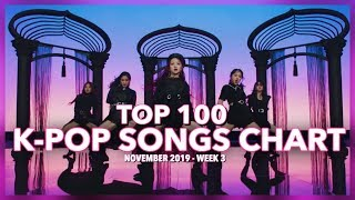 (TOP 100) K-Pop Songs Chart | November 2019 (Week 3)