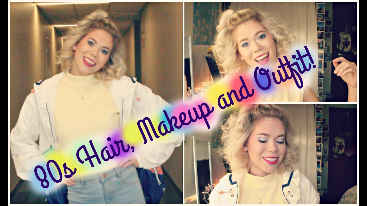 80s HAIR, MAKEUP & OUTFIT // Katie Legate