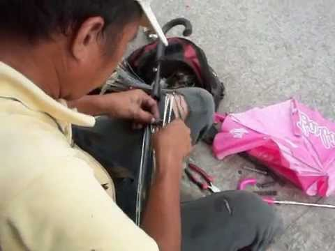 Umbrella Repairman - Making Money in the Philippines - 2 of 2