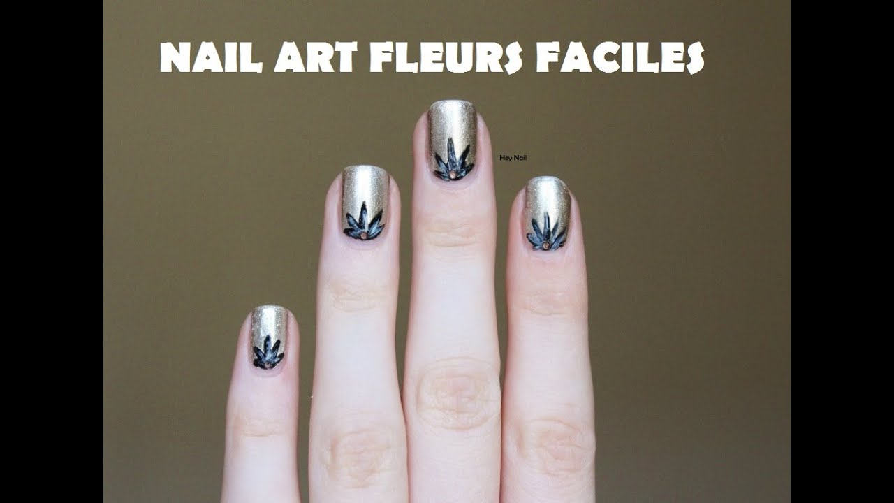 Nail art fleurs facile youtube - Nail art facile et rapide ...