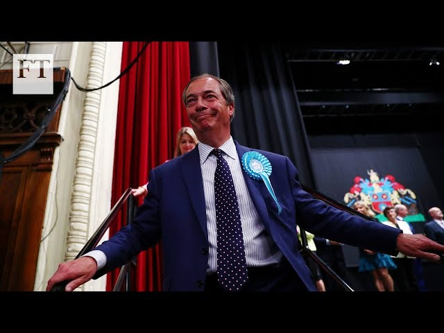 Nigel Farage's Brexit party victorious in EU elections