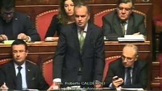 Calderoli, neanche durante il fascismo si vedeva un commissario del governo aggirarsi nelle Aule par