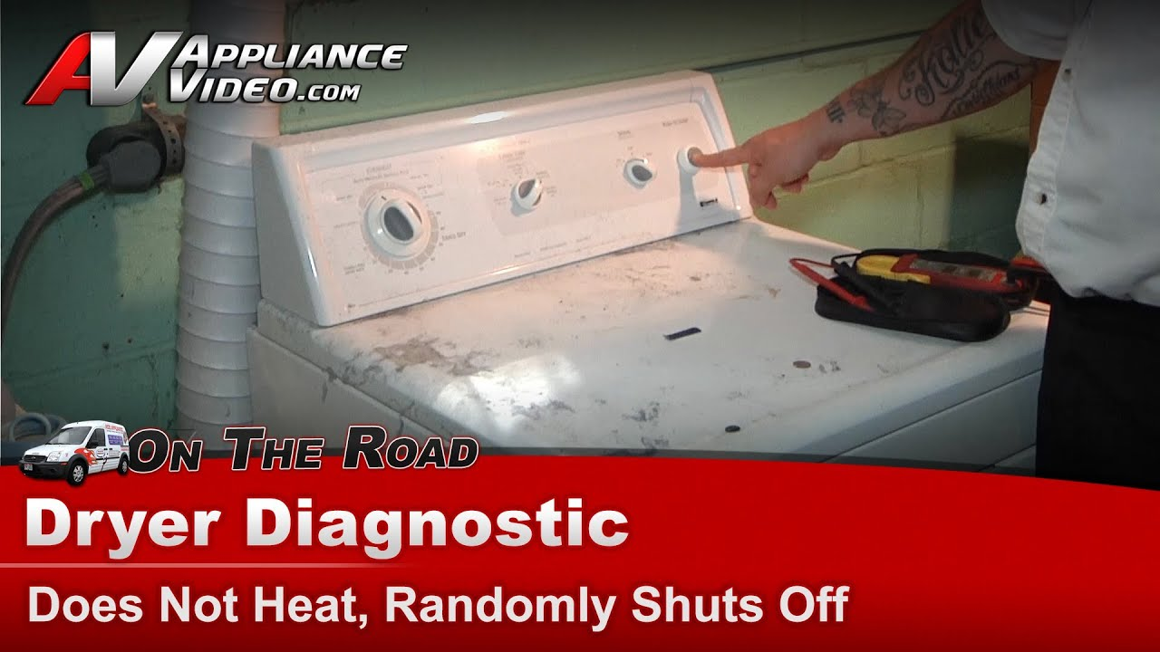 Whirlpool Kenmore & Maytag Dryer Diagnostic Does not heat