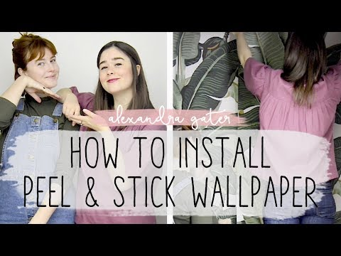 DIY RENTER-FRIENDLY ACCENT WALL | PEEL AND STICK WALLPAPER HOW-TO