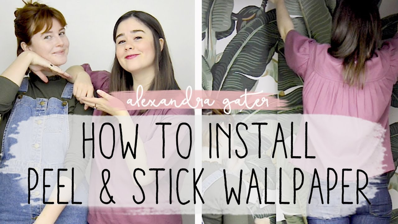 Diy Renter Friendly Accent Wall Peel And Stick Wallpaper How To Youtube