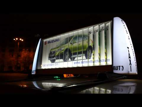 MEDIA TAXI ADVERTISING with TRIVISIONCAR in Bucharest.