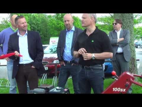 Ljunghusen Bredband Invigning med Vellinge Kommun - Tommy Larsson (M) hyllar det positiva projektet