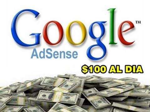 Ganar $100 Al Dia con Google Adsense (Garantizado) / Earn $100 a day Google Adsense (2015)