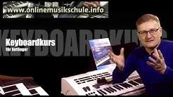 Keyboard spielen lernen - online auf der Onlinemusikschule.info - bequem von zu Hause aus