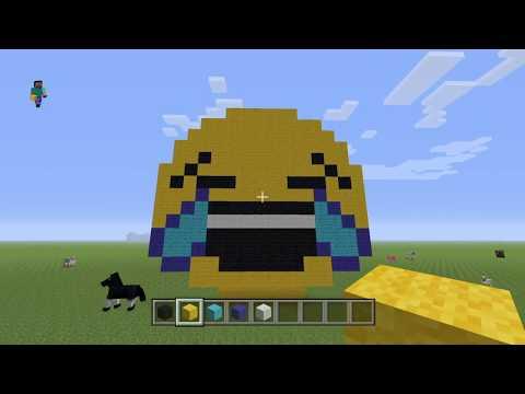 Minecraft Laughing Emoji Pixel Art