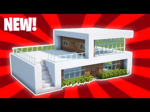 Minecraft : How To Build A Small Modern House Tutorial (#16)
