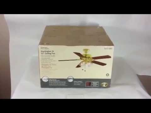 Hampton bay huntington iii 52 ceiling fan youtube audiocablefo