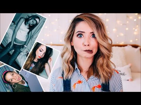 Cringing At Old Embarrassing Photos | Zoella
