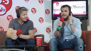 94.5 Kfm Gordon Ramsay live studio audience