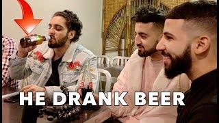 MADE MY MUSLIM FRIEND DRINK BEER PRANK!!! *he freaked out*