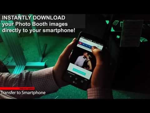 Photo Booth rental option:  INSTANT TRANSFER OF PHOTOS TO SMARTPHONE