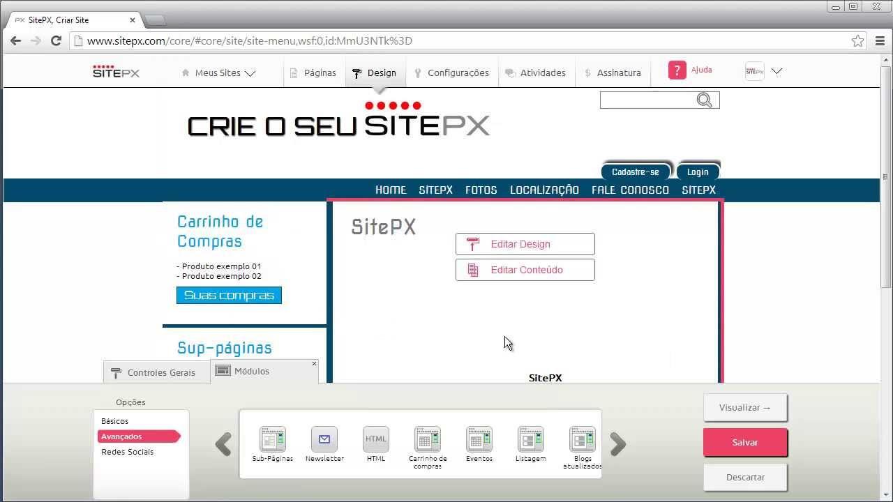 01849067a Como criar site com módulo de carrinho de compras - YouTube