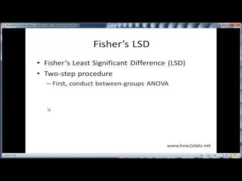 Fisher's LSD - An Attractive And Underused Post-Hoc Test
