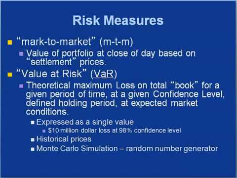 EBF 301 Risk Controls in Energy Commodity Trading