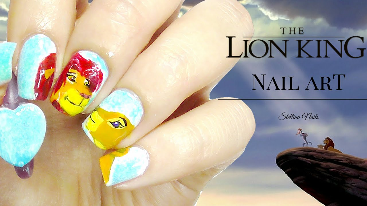 The Lion King nail art |Stellina Nails| - YouTube