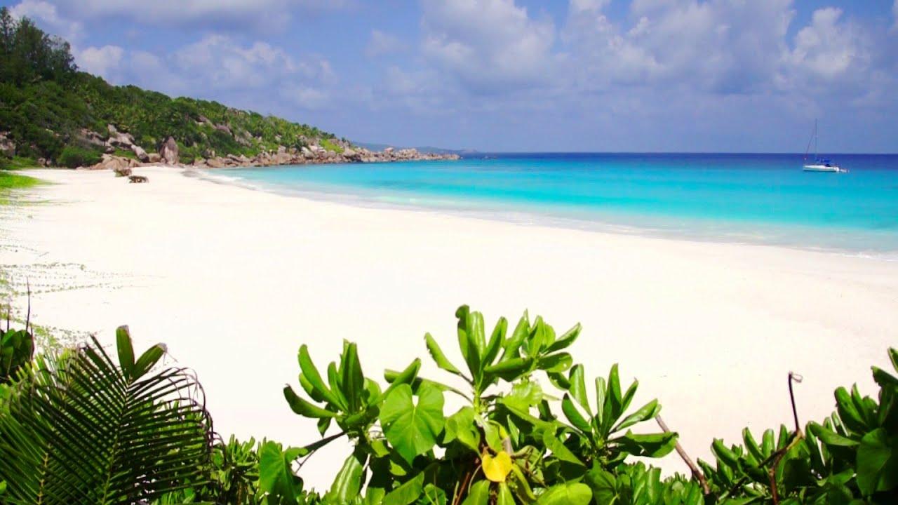 Pee Anse Beach La Digue Island Seychelles
