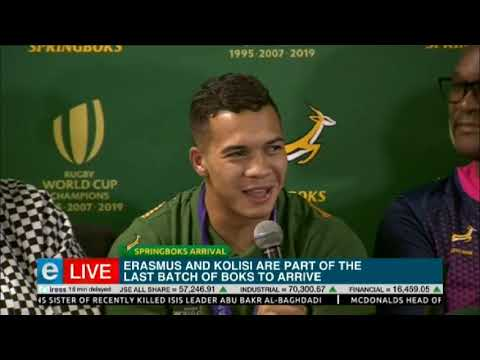 Fans welcome the Boks