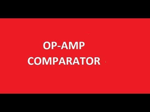 how to use op amp as comparator