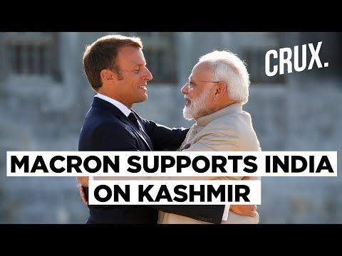 Emmanuel Macron Supports India On Kashmir After Talks With Modi | CRUX