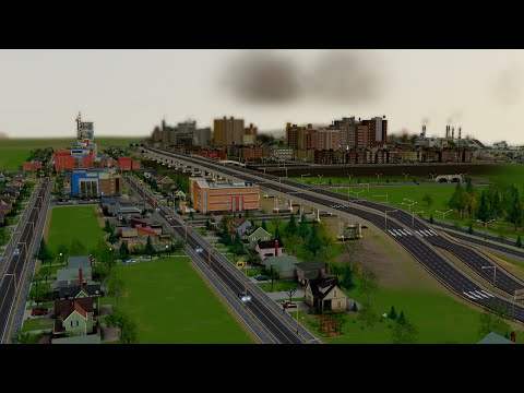 Modded SimCity Ep 13: New Elevated Highway City Entrance