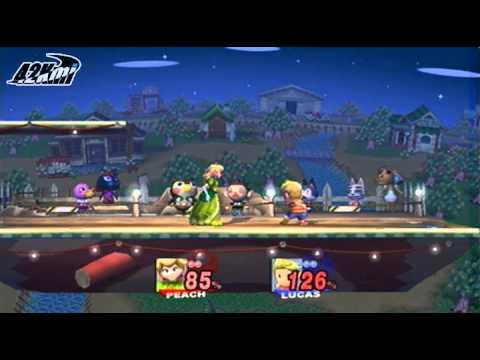 SSBB - Peach vs Lucas - Seishun no Tobira