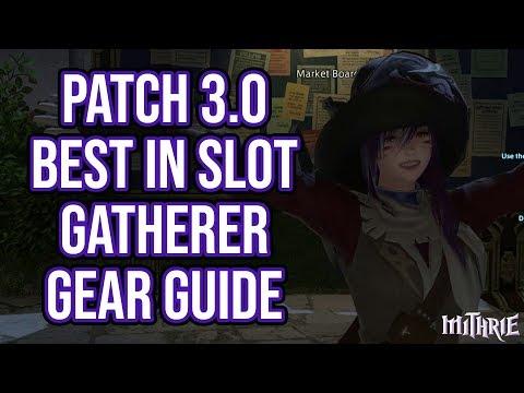 FFXIV Heavensward 3.0 0714 Best in Slot (BiS) Gathering Gear Guide