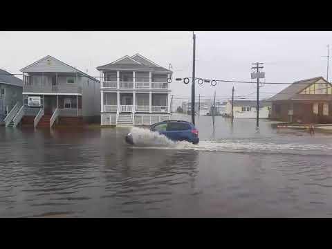 April flooding, Ocean City, NJ, April 16, 2018 - raw footage