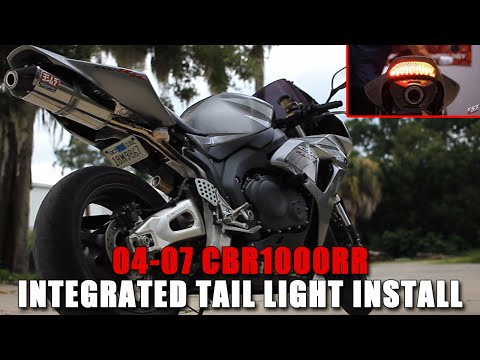 How to: 2004-2007 Honda CBR 1000RR Integrated Taillight Installation by TST Industries