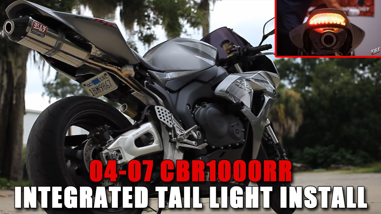 how to: 2004-2007 honda cbr 1000rr integrated taillight installation by tst  industries - youtube