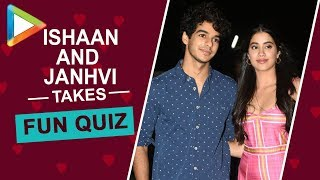 Ishaan Khatter's funny GOOF UP in this Quiz is laugh-riot | Janhvi Kapoor | Dhadak