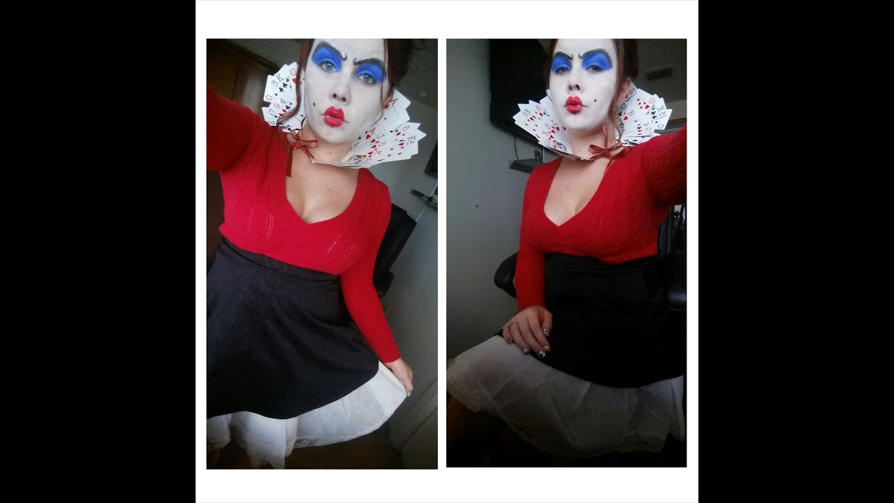 Queen Of Hearts Makeup Diy Costume Youtube