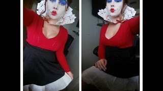 Queen Of Hearts Makeup & Diy Costume!