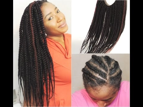 30 MINUTES JUMBO BOX BRAIDS CROCHET BRAIDS - YouTube