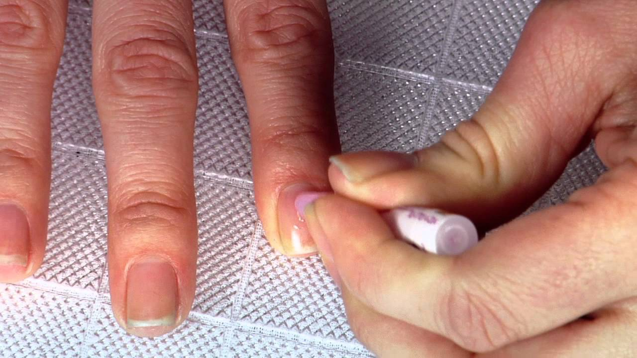 How to Apply Nailene Artificial Nails with glue - YouTube