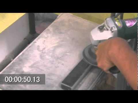 Granite Polishing By Dry Polishing Pads Youtube