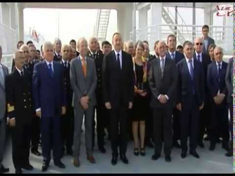 President Ilham Aliyev opens ferry terminal at New Baku International Trade Sea Port Complex