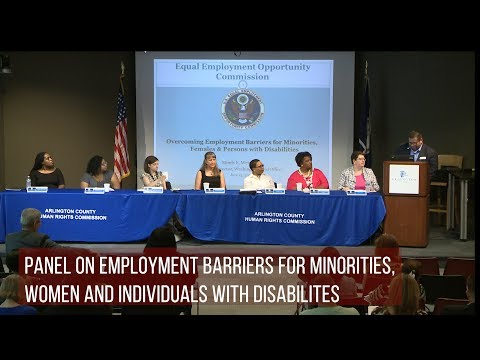 Panel on Employment Barriers for Minorities, Women and Individuals with Disabilites