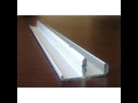 Кухонные фасады в алюминиевом профиле, три вида профиля