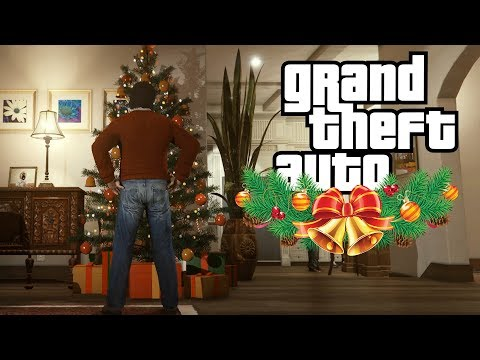 Mike And Franklin spend Xmas with Trevor (GTA V Rockstar Editor Machinima)