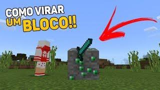 ✔COMO VIRAR UM BLOCO NO MINECRAFT PE !! (Minecraft Pocket Edition)