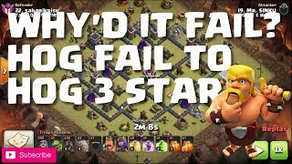 HOG FAIL TO HOG CLEAN - WHY IT FAILED & HOW IT WAS FIXED - Clash of Clans| Mister Clash